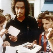 Claudio beim Autogramme schreiben