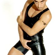 Claudio Maniscalco ganz in Latex